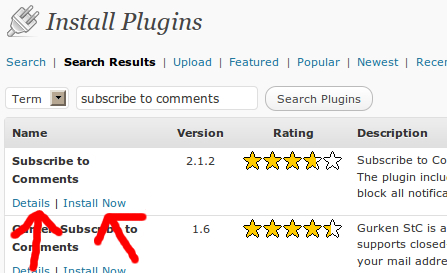 New Plugin search results